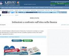 Istituzioni a confronto sull'etica nella finanza
