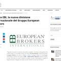 Nasce EBI, la nuova divisione Internazionale del Gruppo European Brokers