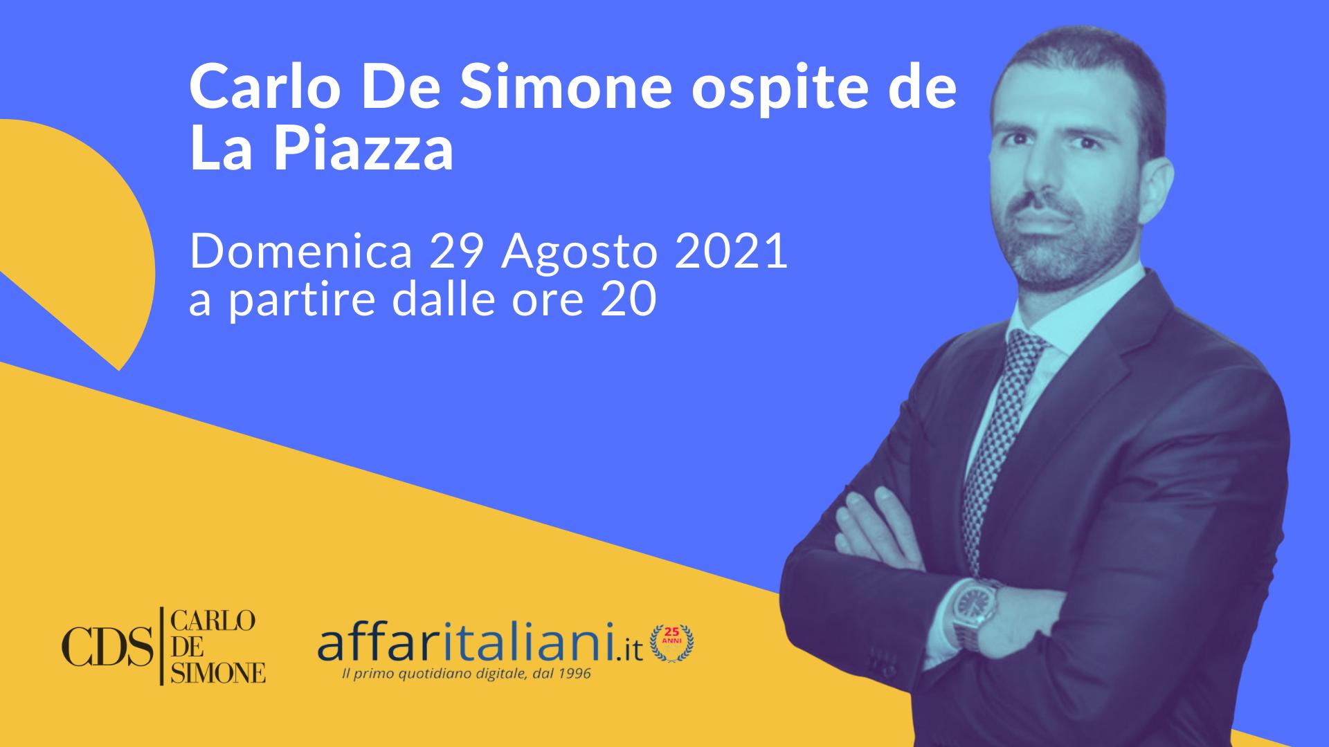 carlo de simone ospite de la piazza di affari italiani