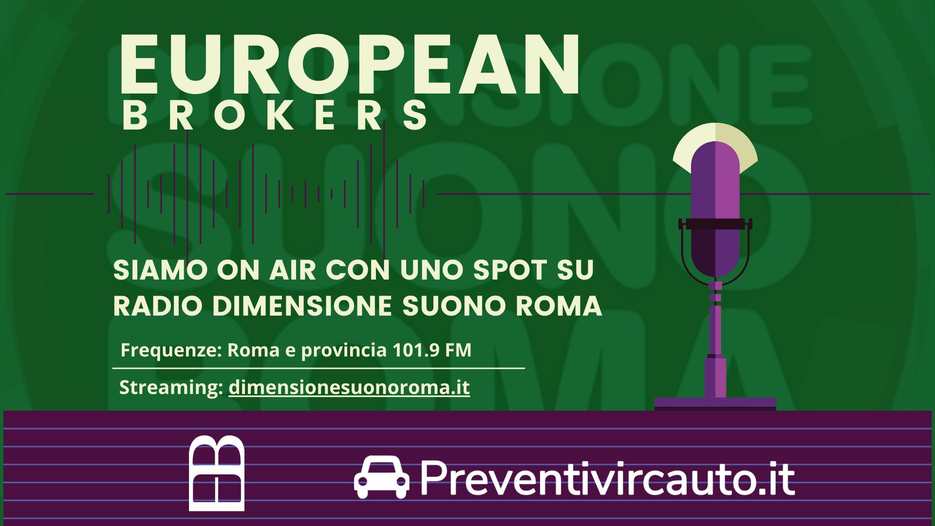 Siamo On Air con uno Spot su Radio Dimensione Suono Roma